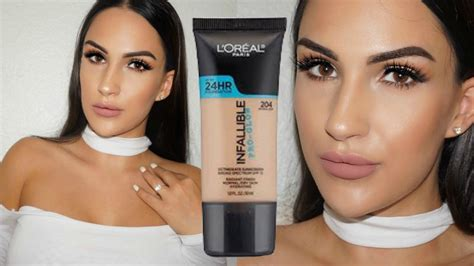 Loreal Infallible Pro Glow 205 3gram new l oreal pro glow foundation impressions demo