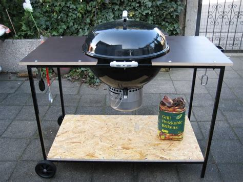 weber kettle grill table use bbq side table and increase the working surface fire