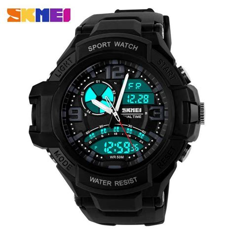 Jam Tangan G Shock Dualtime Pria Sport Water Resist 19 skmei 1017 s dual time date disp end 7 27 2018 1 15 pm