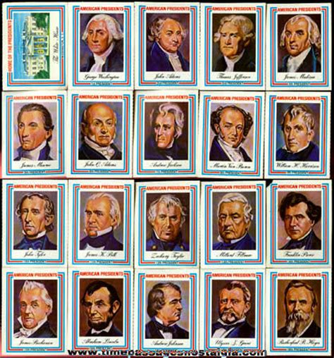 Presidential Trading Card Template by 169 1975 Set Of 38 United States President Trading Cards Tpnc