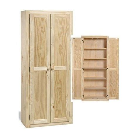 Unfinished Oak Pantry by Kitchen Pantry Cabinet Solid Wood Large Unfinished