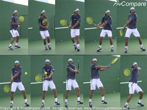 backhand swing technical difference between nadal s backhand and djokovic