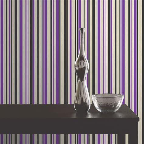 i love the purple striped wall bedrooms pinterest buy fine decor tulipa stripe wallpaper purple black white