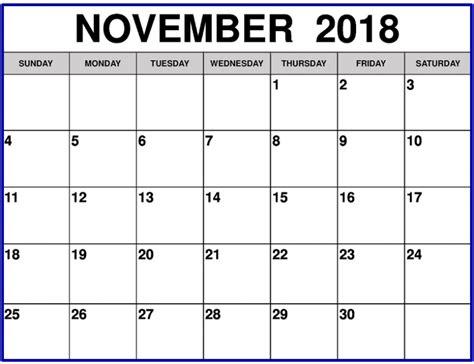 microsoft office 2018 calendar template with holidays november 2018 calendar printable template usa canada uk