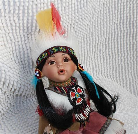 porcelain doll american indian porcelain indian baby doll 12inch vintage american indian