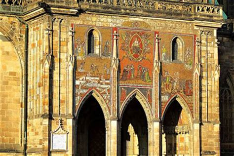 la porta d oro praga cattedrale di san vito a praga