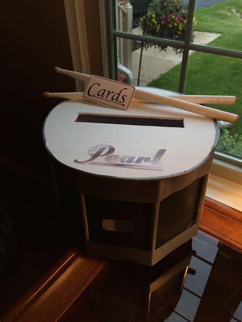Snare drum card box for graduation party   Graduation