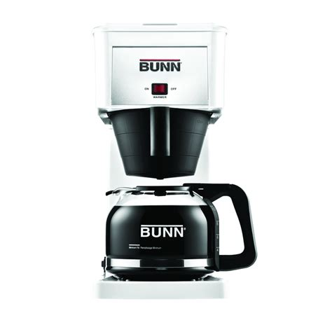 bunn coffee makers shop bunn white 10 cup coffee maker at lowes com