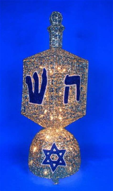 36 quot spinning dreidel animated lighted hanukkah yard art