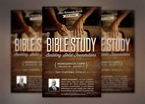 bible study church flyer template inspiks market