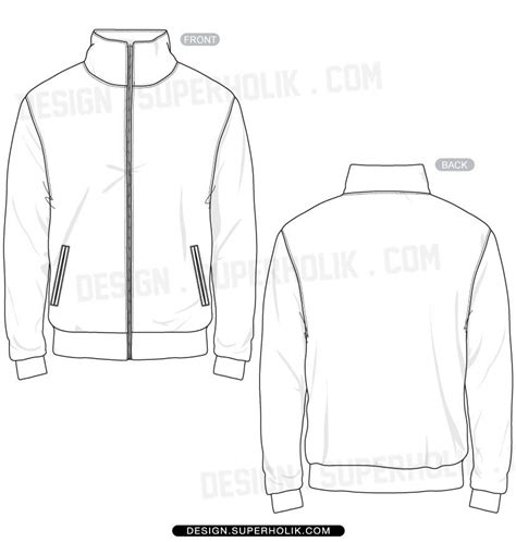 Desain Vektor Jaket | fashion design templates vector illustrations and clip