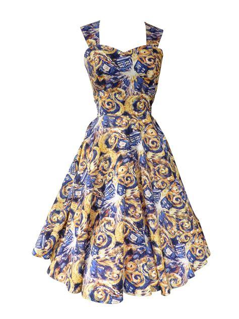 Dress Fashion Dr8578 dr who tardis vintage style dresses swing dresses