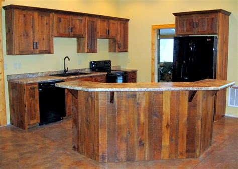 How To Make Rustic Kitchen Cabinets Log Furniture Barnwood Furniture Rustic Furniture Rustic Kitchen Cabinets Reclaimed Wood