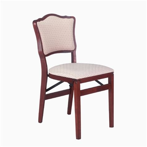 stakmore upholstered back folding chair