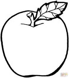 coloriage pomme avec feuille coloriages 224 imprimer