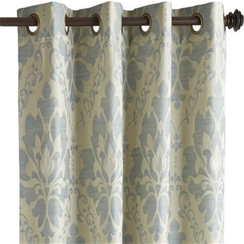 metallic blue curtains damask metallic curtain smoke blue pier 1 imports