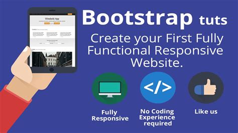 responsive website tutorial youtube bootstrap 3 tutorial create your first one page