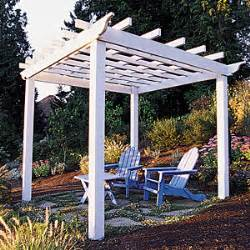 How To Build Your Own Pergola by Trellis Amp Arbor Ideas Sunset