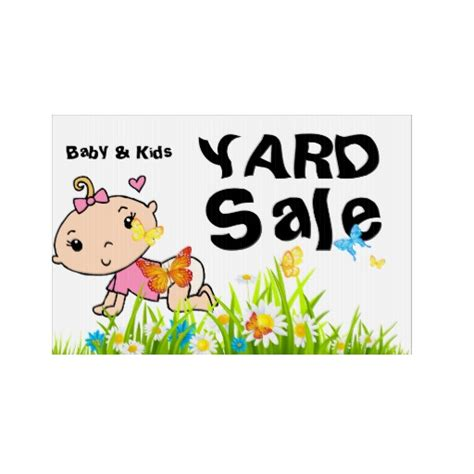 Garage Sales Baby Stuff by Baby Items Yard Sale Sign Zazzle