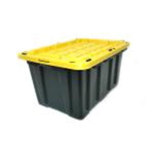 home depot 27 gal strong box plastic storage tote in
