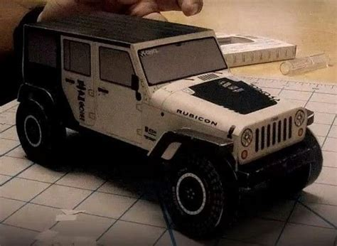 Papercraft Jeep - jeep papercraftsquare free papercraft