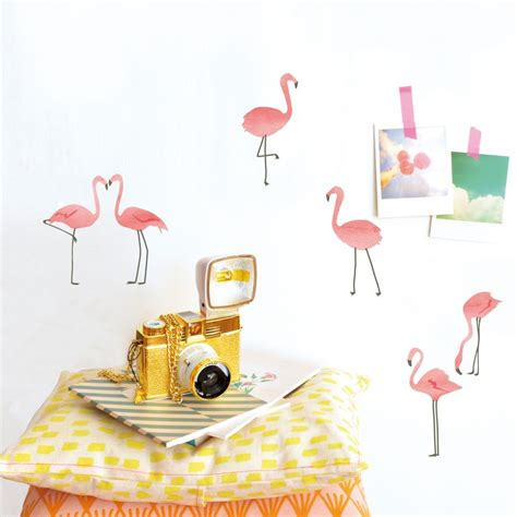 flamingo wall stickers flamingo wall stickers original wall deco for children designed in by mimi lou