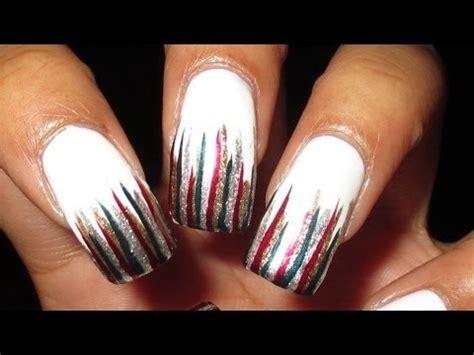 christmas nail art tutorial youtube christmas reverse waterfall nail art tutorial youtube
