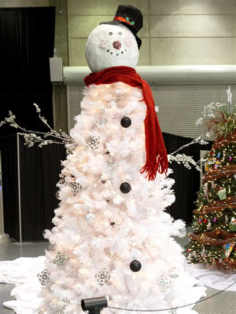how to make a snowman christmas tree themed christmas