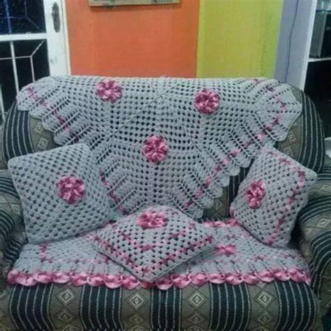 capa de sofa de canto em croche capa de sof 225 de croch 234 39 modelos incr 237 veis gr 225 fico