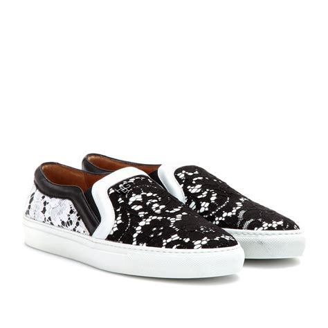 givenchy sneakers givenchy lace slip on sneaker in white lyst