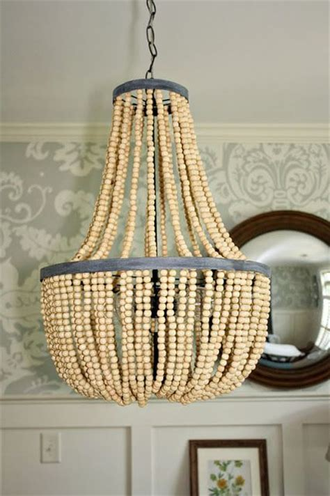 diy wood bead chandelier gusandlula diy beaded chandelier tutorial diy s ideas ls etc the
