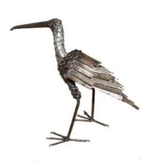 Garden Metal Birds Curlew Bird Metal Garden Ornament Upright