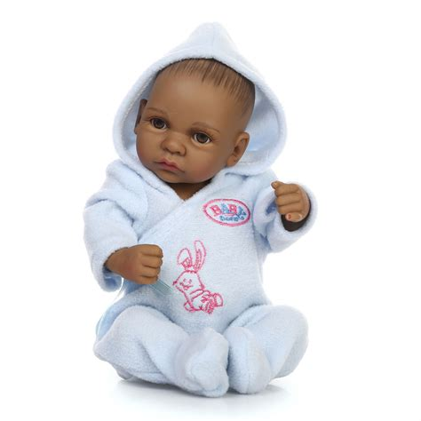 black newborn doll 10 quot reborn baby american baby doll black vinyl