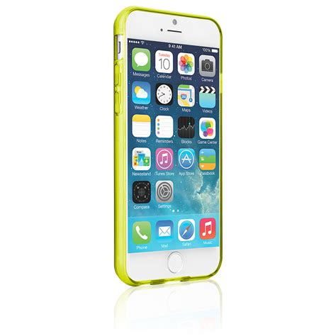 Jelly For Iphone naztech tpu jelly cover for iphone 6 6s yellow
