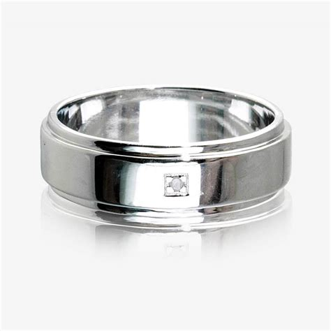 Silver Band Ring With Diamonds by Sterling Silver S Ring