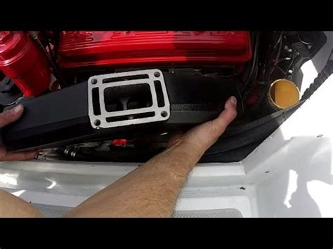 volvo penta  exhaust manifold riser replacement youtube