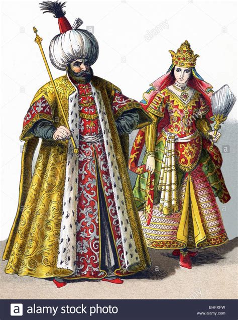 ottoman costume these figures represent a sultan and a sultana in the