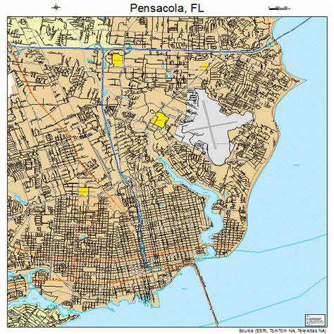 pensacola map pensacola fl zip code map images