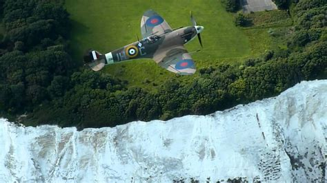 spitfire flying over the white cliffs of dover youtube