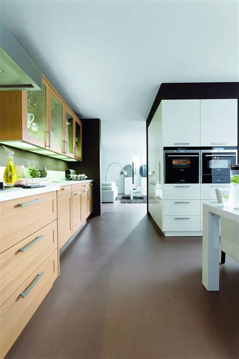 cuisine bois nature et d馗ouverte cuisine bois naturel cuisine et blanc ouverte en u