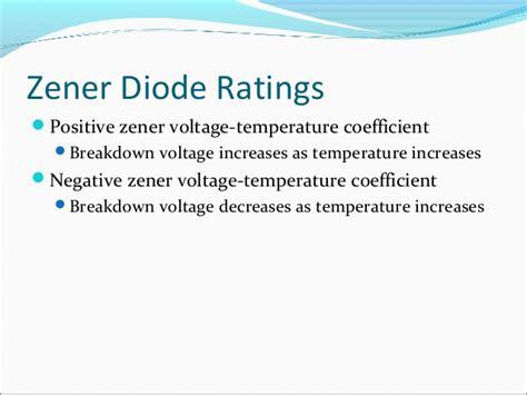 zener diode temperature coefficient zener diode temperature coefficient 28 images chapter 3 special purpose diodes ppt minor