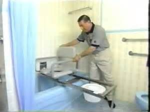 Sliding Bathtub Transfer Bench Patented Bathtub Transfer Bench Youtube