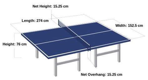 official dimensions ping pong table gameroom