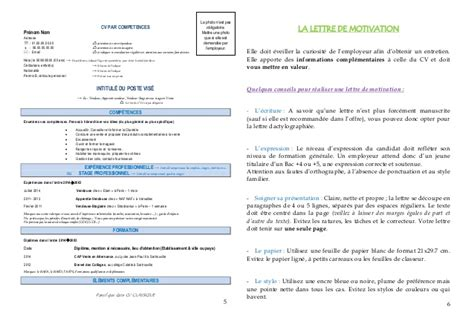 Lettre De Motivation Apb Type Livret Quot Faire Cv Et Sa Lettre De Motivation Quot 2014