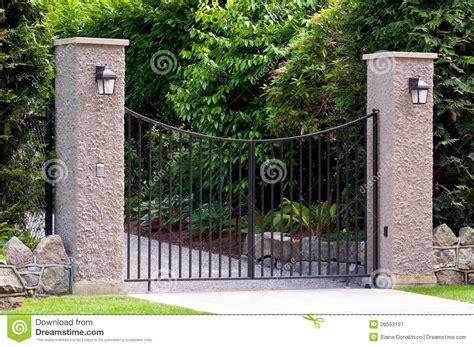 Split Plan Wrought Iron Gate Royalty Free Stock Photography Image