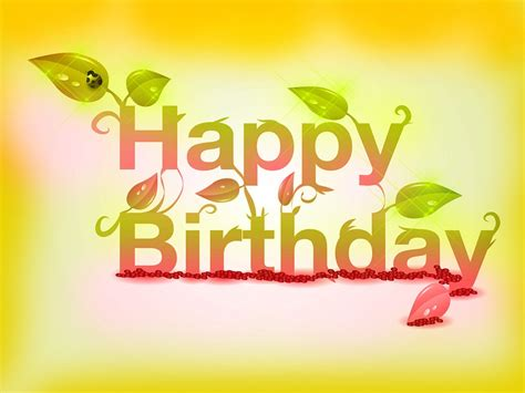 happy birthday creative design wish you a very happy birthday words texted wishes card