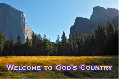god country mountain lake signs