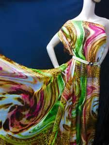 by the yard 100 pure silk chiffon fabric swirl print npc