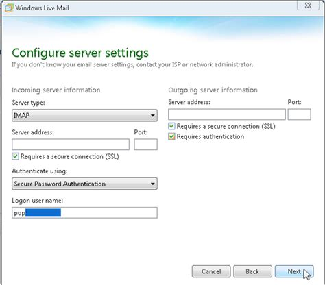 windows live mail imap settings sonicwiki windows live mail 2012 en euserv wiki