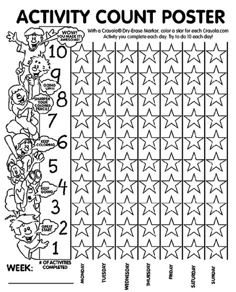 activity count poster coloring page crayolacom